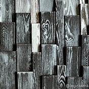 Картины и панно handmade. Livemaster - original item Graphite panels wooden. Loft panels of wood.Dark gray. Handmade.