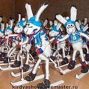 Куклы и игрушки ручной работы. Ярмарка Мастеров - ручная работа Заяц - биатлонист (СБР). Handmade.