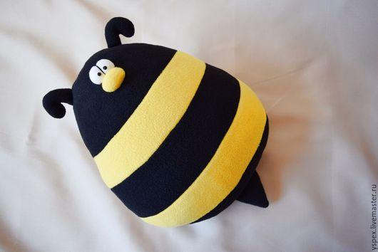 """Текстиль, ковры ручной работы. Ярмарка Мастеров - ручная работа. Купить Игрушка-подушка """"Пчёлыч"""". Handmade. Разноцветный, игрушка пчела"""