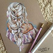 Картины и панно ручной работы. Ярмарка Мастеров - ручная работа Hairstyle. Handmade.