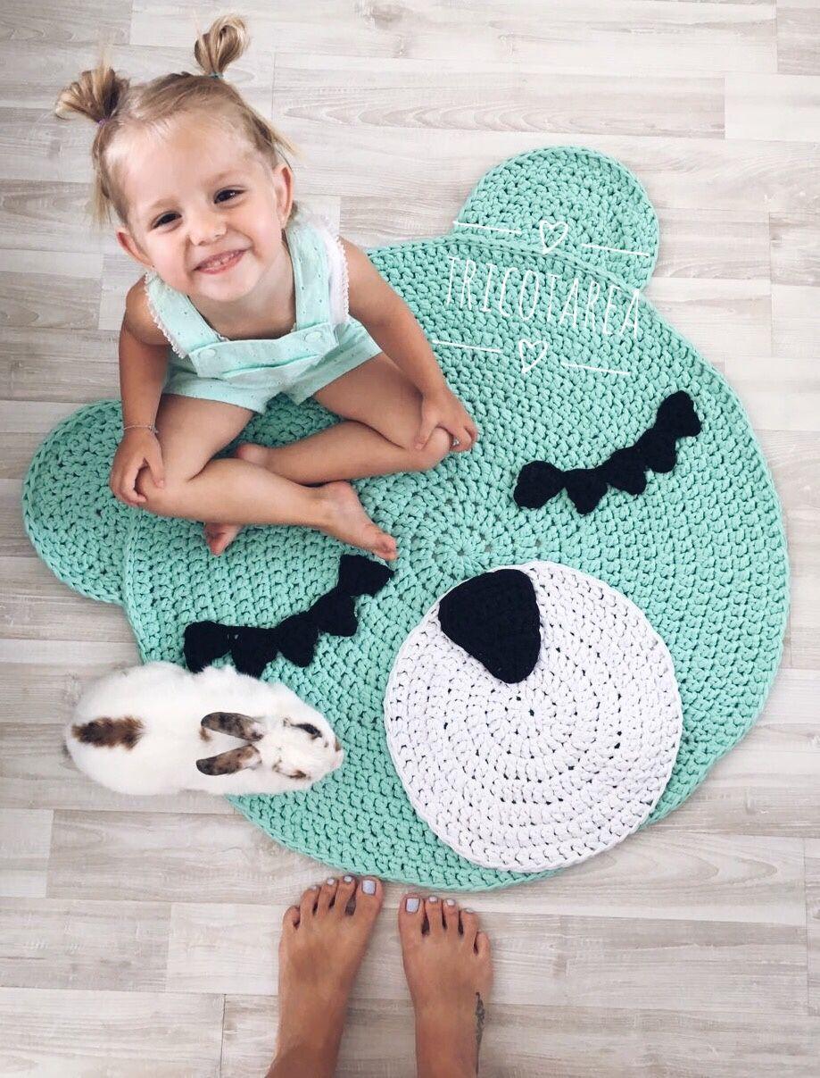 Knitted carpet bear for children's room, Carpets, Ulyanovsk,  Фото №1