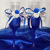 Бокалы ручной работы. Ярмарка Мастеров - ручная работа Свадебные бокалы. Handmade.