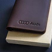 Канцелярские товары handmade. Livemaster - original item Cover for auto documents / / / AUDI. Handmade.