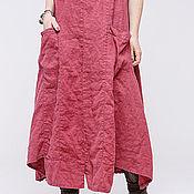 Одежда ручной работы. Ярмарка Мастеров - ручная работа Бохо платье льяное 4-15. Handmade.