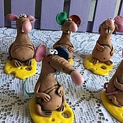 Christmas decorations handmade. Livemaster - original item Christmas gifts: Ceramic rat