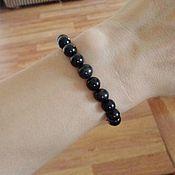 Украшения handmade. Livemaster - original item Bracelet made of black agate and natural shungite (not slate!). Handmade.