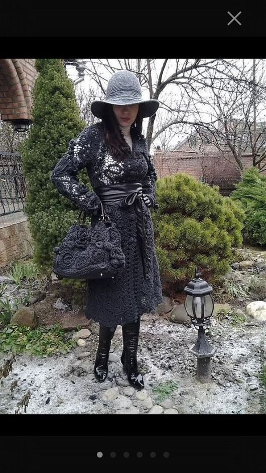 """Верхняя одежда ручной работы. Ярмарка Мастеров - ручная работа. Купить Вязаное пальто """" Зимний вечер в Гаграх """". Handmade."""