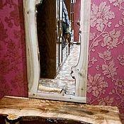 Для дома и интерьера ручной работы. Ярмарка Мастеров - ручная работа Зеркало настенное с рамой из срезов каповой березы. Handmade.