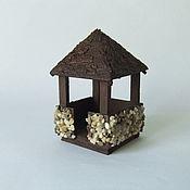 Мини фигурки и статуэтки ручной работы. Ярмарка Мастеров - ручная работа Мини беседка для садика и кукольной миниатюры. Handmade.