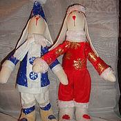 Куклы и игрушки ручной работы. Ярмарка Мастеров - ручная работа Новогодние зайчики. Handmade.