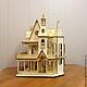 Кукольный домик  (продается в разобранном виде в палетках) к заготовке прилагается схема сборки Размер: 31х39х58 см, высота этажа 13 см Материал: фанера 3 мм