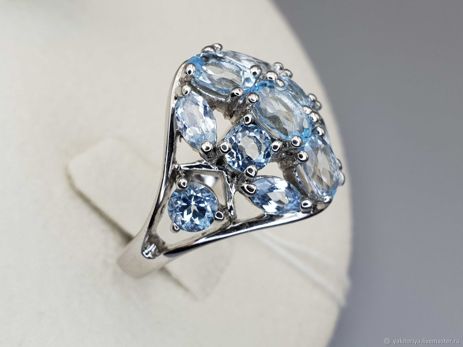 Silver ring with Topaz, Rings, Moscow,  Фото №1