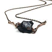 Украшения handmade. Livemaster - original item Mini necklace For good luck! Natures`.obsidian, Anna Chernykh accessories, chain. Handmade.