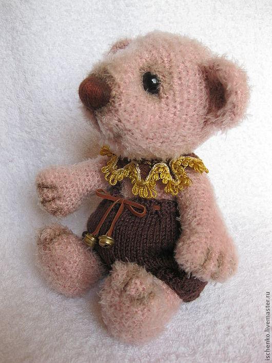 Мишки Тедди ручной работы. Ярмарка Мастеров - ручная работа. Купить Мишка Моди. Handmade. Бледно-розовый, пряжа
