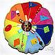"""Развивающие игрушки ручной работы. Ярмарка Мастеров - ручная работа. Купить Развивающая игрушка - подушка """"Цветная геометрия"""". Handmade. подушка"""