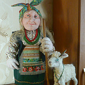 Куклы и игрушки ручной работы. Ярмарка Мастеров - ручная работа Авторская кукла баба яга, Авторская кукла,подарок. Handmade.