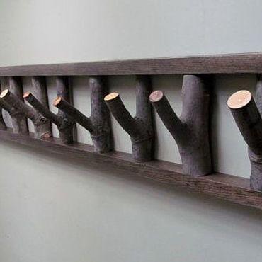 Мебель ручной работы. Ярмарка Мастеров - ручная работа Вешалка из веток. Handmade.