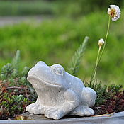 Для дома и интерьера handmade. Livemaster - original item Figurine Frog of concrete in the style of Provence Shabby. Handmade.