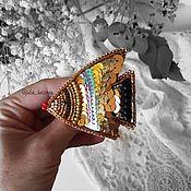"""Украшения ручной работы. Ярмарка Мастеров - ручная работа Брошь из бисера """"Золотая рыбка"""".. Handmade."""