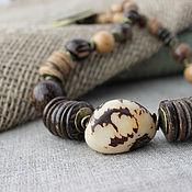 Украшения ручной работы. Ярмарка Мастеров - ручная работа Колье из натуральных орехов, камней и дерева Юна. Handmade.