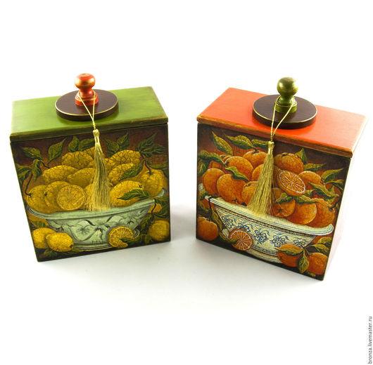"""Кухня ручной работы. Ярмарка Мастеров - ручная работа. Купить Короба для кухни """"Цитрус"""". Handmade. Комбинированный, коробочка для подарка, цитрус"""