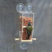 Для дома и интерьера handmade. Livemaster - original item Peanut feeder for birds on the window