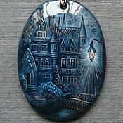 """Украшения ручной работы. Ярмарка Мастеров - ручная работа Кулон """"Замок"""" - роспись на камне. Handmade."""