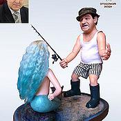 Куклы и игрушки ручной работы. Ярмарка Мастеров - ручная работа Портретная кукла «Рыбак» на заказ. Handmade.