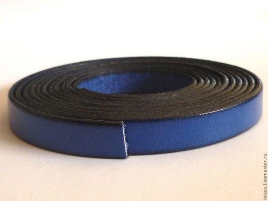 Для украшений ручной работы. Ярмарка Мастеров - ручная работа. Купить Кожаный шнур 10х2мм синий матовый. Handmade.