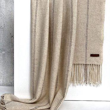 Аксессуары ручной работы. Ярмарка Мастеров - ручная работа Шарф тканый шарф палантин молочного цвета теплый. Handmade.