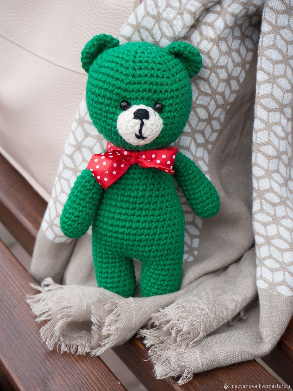 Изумрудный мишка, Мягкие игрушки, Владимир,  Фото №1