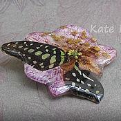 Украшения ручной работы. Ярмарка Мастеров - ручная работа Брошь с бабочкой и орхидеей. Handmade.