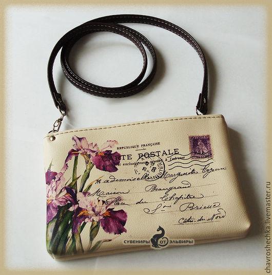 Оригинальный женский клатч в виде конверта. Подходит как для повседневной носки, так и для праздничного образа.
