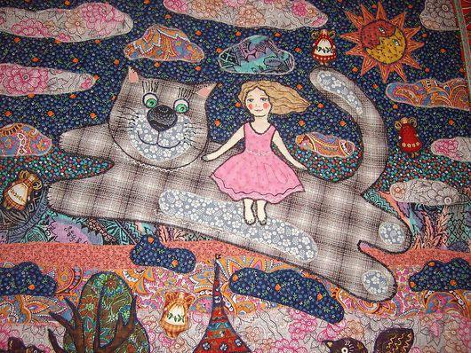 """Детская ручной работы. Ярмарка Мастеров - ручная работа. Купить И снова """"Полет на волшебном коте"""". Handmade. Сказка, сон"""