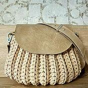 Классическая сумка ручной работы. Ярмарка Мастеров - ручная работа Сумка-ракушка цвета слоновая кость. Handmade.
