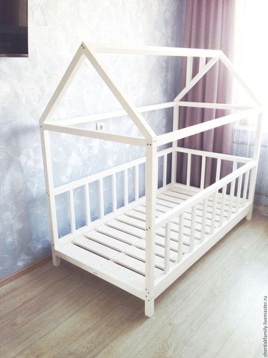 """Детская ручной работы. Ярмарка Мастеров - ручная работа. Купить Кроватка - домик на ножках """"Белая"""". Handmade. Белый, кровать, домик"""