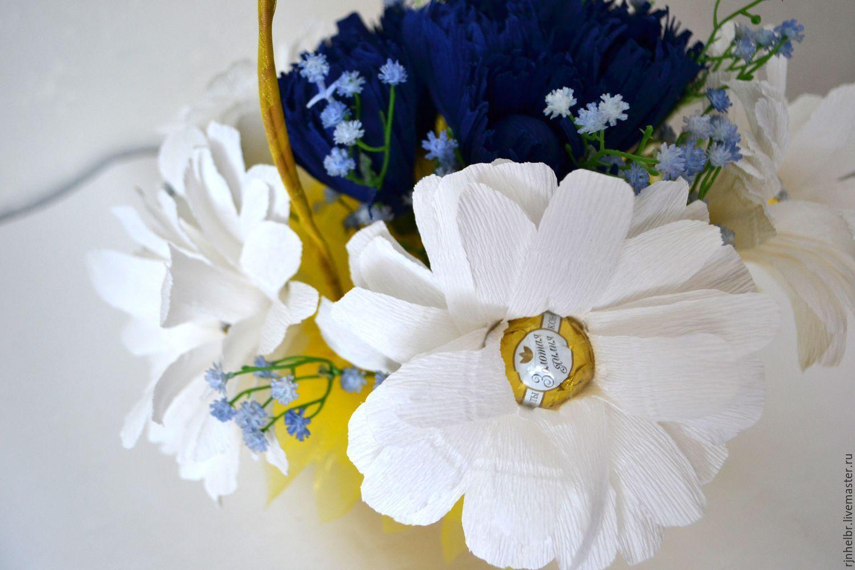 букет из конфет Ромашки-васильки шикарный подарок на любой праздник!, Букеты, Всеволожск,  Фото №1