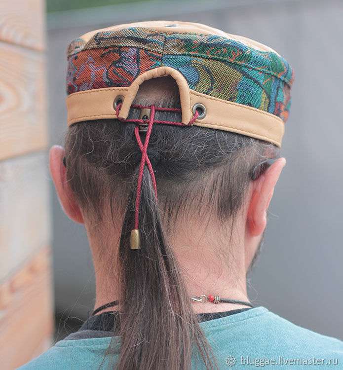 836256239524c Bluggae Hats handmade. African ethnic kufi hat in denim TLB-HAT-02.