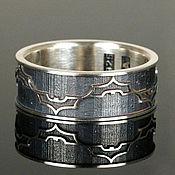 """Украшения ручной работы. Ярмарка Мастеров - ручная работа Серебряное кольцо """"Темный рыцарь"""" от WickerRing. Handmade."""