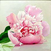 """Картины и панно ручной работы. Ярмарка Мастеров - ручная работа """"Розовый пион"""". Handmade."""