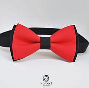 Аксессуары handmade. Livemaster - original item Tie red Duo / wedding in red, bow tie. Handmade.