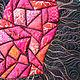"""Символизм ручной работы. Интерьерное панно """"Любовь"""". JuLiDo               (Юлия Доценко). Интернет-магазин Ярмарка Мастеров. Красный, текстиль для лофта"""