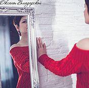 """Одежда handmade. Livemaster - original item Вязаное длинное платье """"Lady in Red"""". Handmade."""