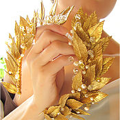 Украшения ручной работы. Ярмарка Мастеров - ручная работа Лавровый венок-диадема с длинными листьями. Handmade.