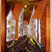 Картины и панно ручной работы. Ярмарка Мастеров - ручная работа Старинный город. Handmade.