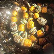 Украшения ручной работы. Ярмарка Мастеров - ручная работа карамельковая диета - керамические бусы. Handmade.