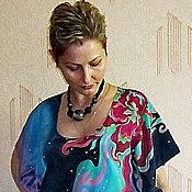 """Одежда ручной работы. Ярмарка Мастеров - ручная работа Платье-пончо """"Краски страсти"""". Handmade."""