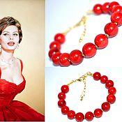 Украшения handmade. Livemaster - original item Bracelet coral. Accessories - gold. Handmade.