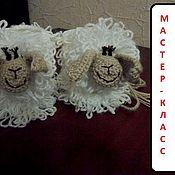 Материалы для творчества ручной работы. Ярмарка Мастеров - ручная работа Мастер- класс пинетки - овечки. Handmade.