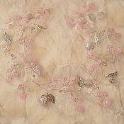 Свадебный салон handmade. Livemaster - original item Wedding sprig, the rim of rose quartz